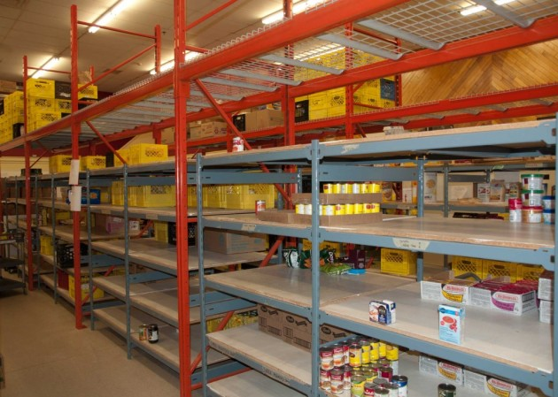 food bank shelves