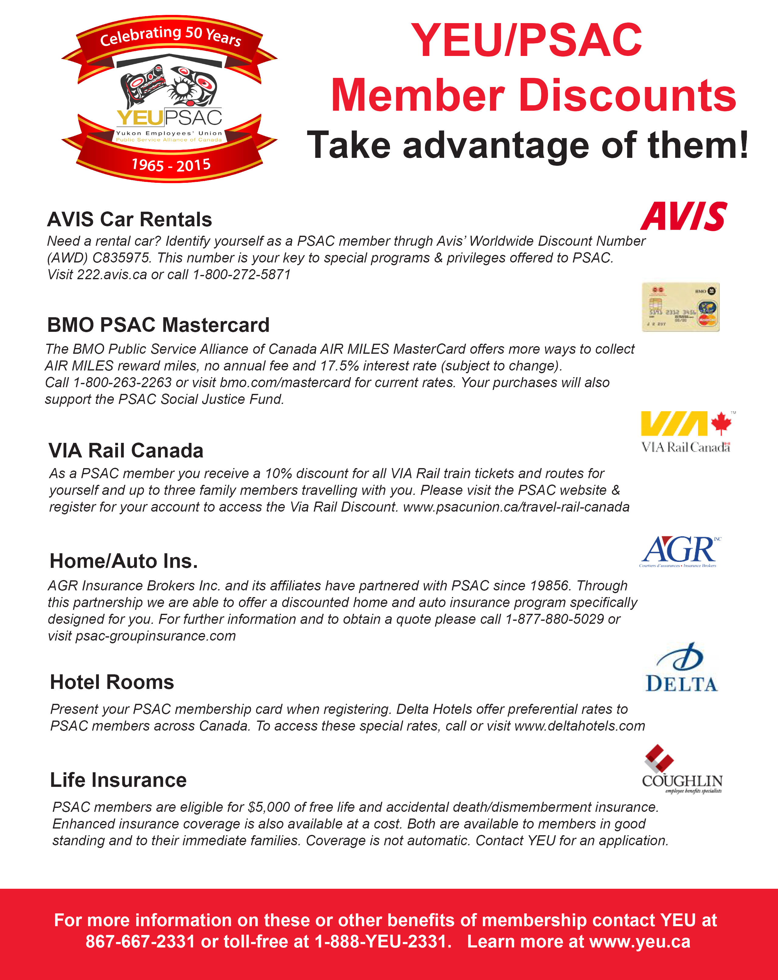 YEU Member Benefits 2015 Poster
